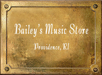 Bailey's Music Store brass instrument history Providence RI