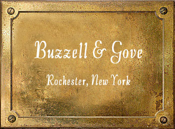 Buzzell & Gove Rochester NY brass musical instrument maker history