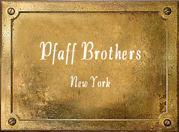 Pfaff Brothers instrument makers New York City